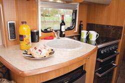 Swift Challenger 570 Kitchen Workspace