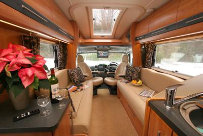 Auto-Trail Comanche interior looking forward