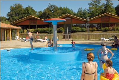 The outdoor pool is great for kids