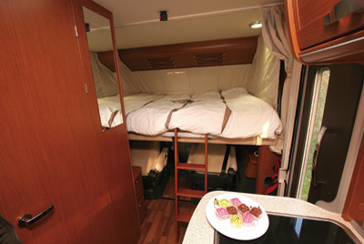 Hymer B534 Bed Above Cab