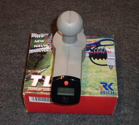 Digital caravan noseweight gauge
