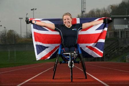 Hannah Cockroft representing Team GB