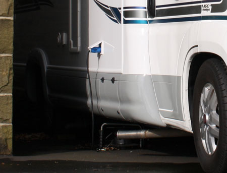 Motorhome battery on charge