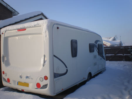 tourer in winter storage