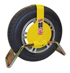 bulldog yellow wheel clamp