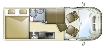 Pilote F600DGA Motorhome Floorplan