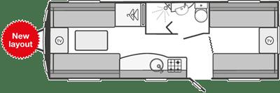 Swift Colour Concept Caravan Floorplan