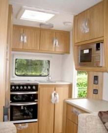 Lunar Ariva two-berth caravan kitchen