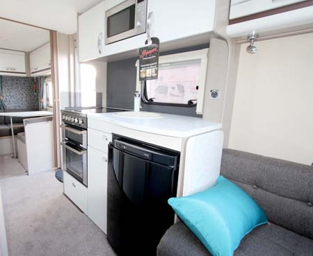 Swift Sterling Eccles Sport 586 kitchen