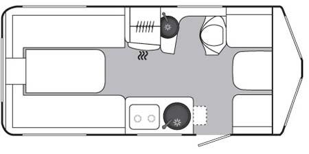 Eriba Touring GT540 Floorplan