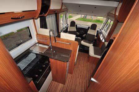 Adria Sonic Plus I 700 SC motorhome kitchen