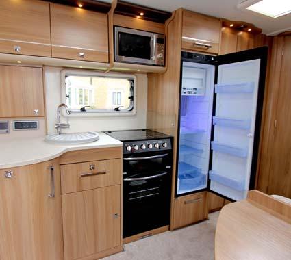 Bailey Madrid Large fridge Single axle