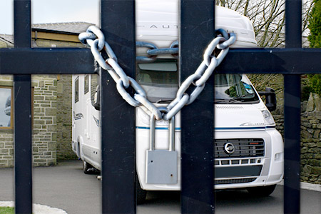 How to upgrade your motorhome storage security at home