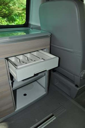 VW California SE Kitchen Storage