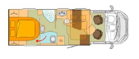 Burstner Ixeo Time IT745 floor plan
