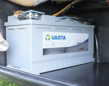 Varta AGM battery fitted to a Motorhome
