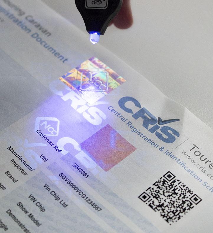 New CRiS registration document  UV  logo