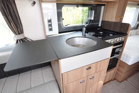 Swift Conqueror 565 Kitchen