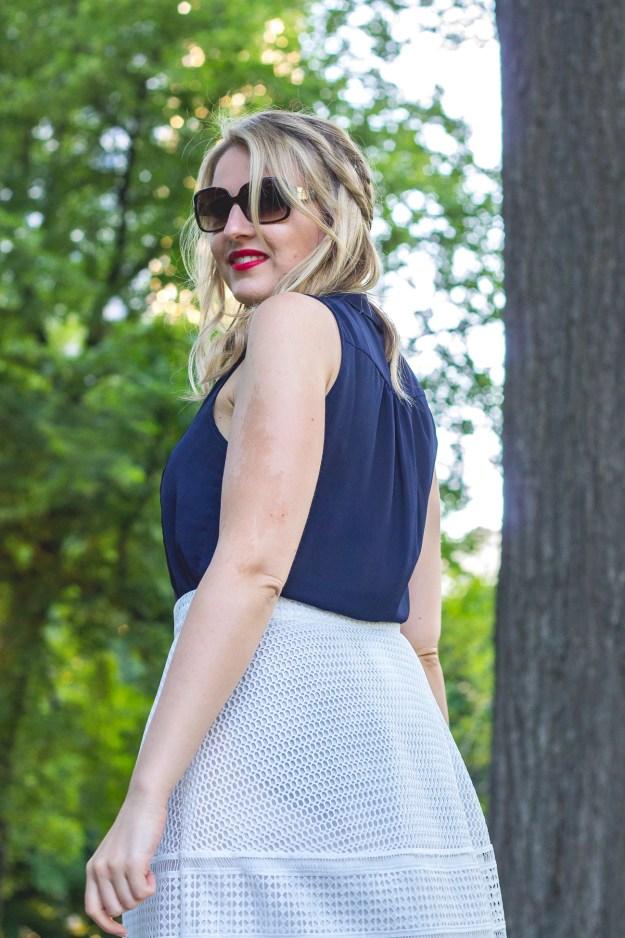 fashion investment, warehouse skirt, joie blouse, kate spade sunglasses, manolo blahnik pumps