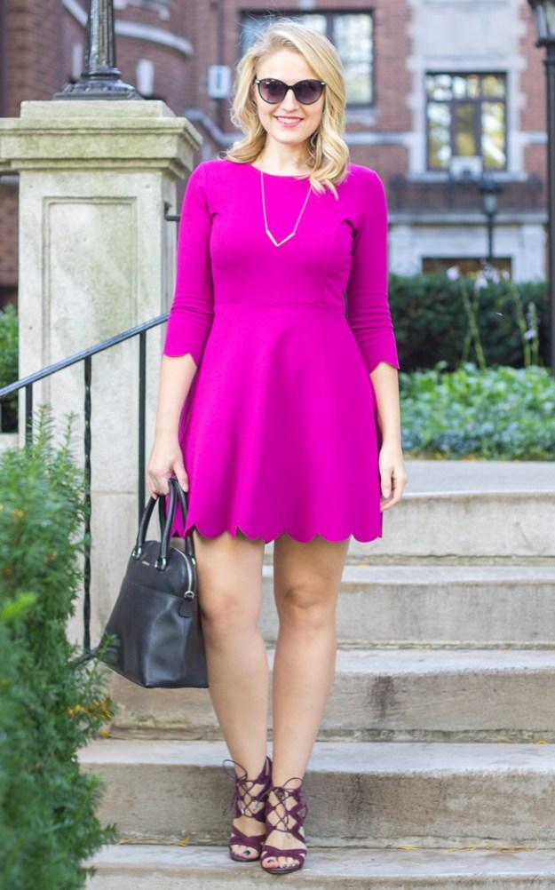 Lulus Purple Fit & Flare Dress