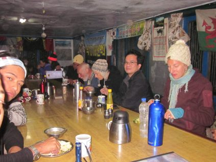 Trekkers dining at ABC