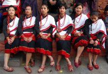 Newari girls during a local festival