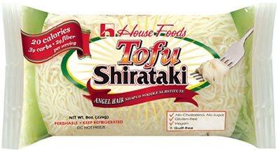 Angel Hair Low Carb, Low Calorie Tofu Shirataki Pasta 8 oz bag by House Foods
