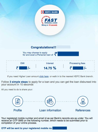 HDFC Pre-Approved Personal Loan Credited in 10 Seconds | CardExpert
