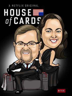 house of cards caricature