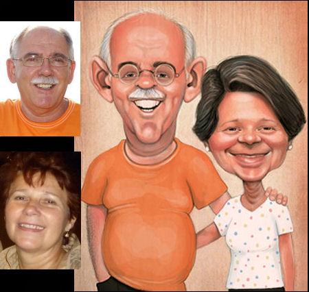 couple-big-exaggeration-caricature