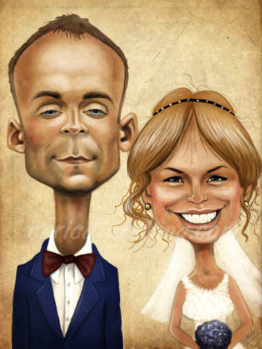 wedding gift art from caricature caricatureking.com