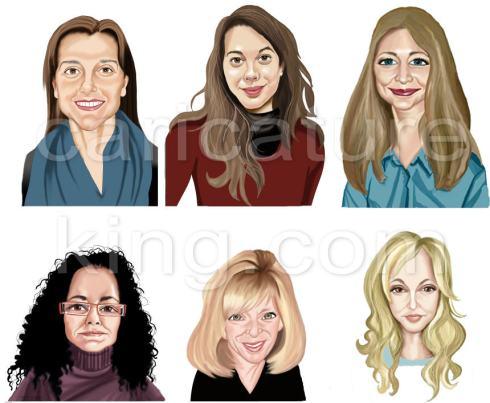 profile caricatures for website from caricatureking.com