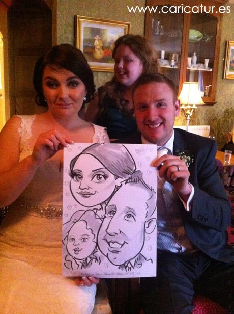 wedding charicaturist Ireland