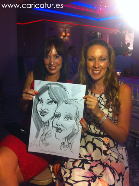 Live caricatures Ireland wedding entertainment by Allan Cavanagh