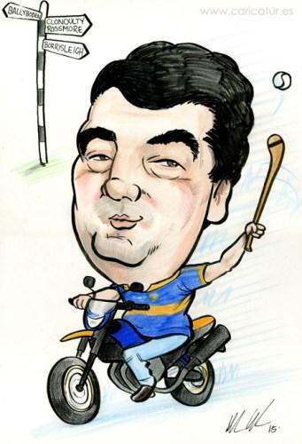 50th Birthyda Present Caricature in Ireland by Allan Cavanagh