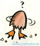 Cartoon of a duck egg hatching
