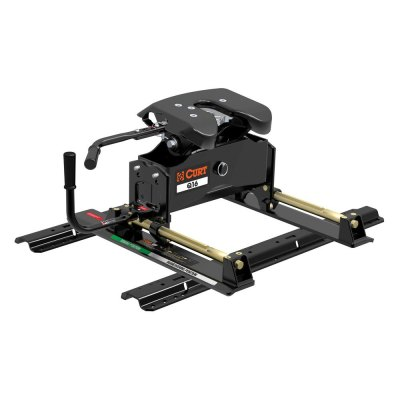 CURT® 16621 - A16 Series 5th Wheel Hitch Head with Roller and Rails