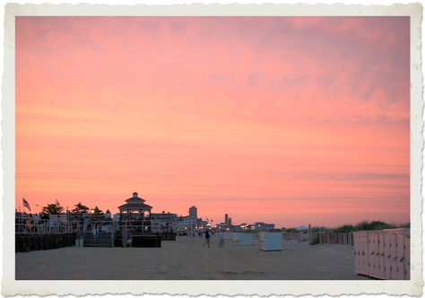 Sunset over Ocean Grove