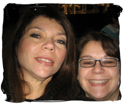 Sis and Me in our version of a Myspace photo!