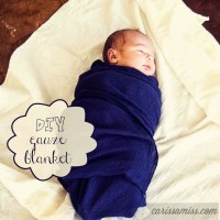 sewing for baby series: diy gauze blankets