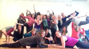 Sacred Glow Yoga's class of 2014