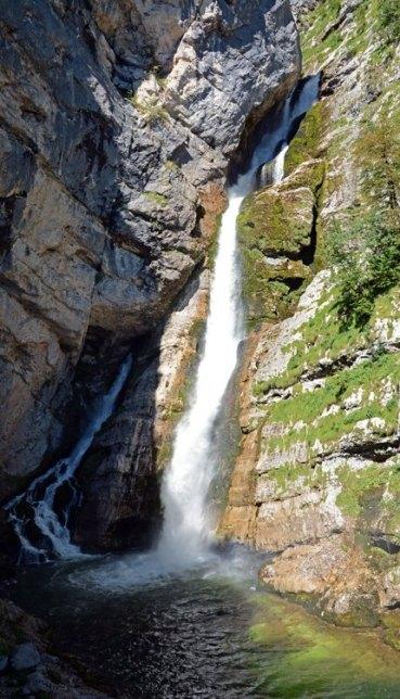 Nacimiento del Río Sava. Cascada de Savica