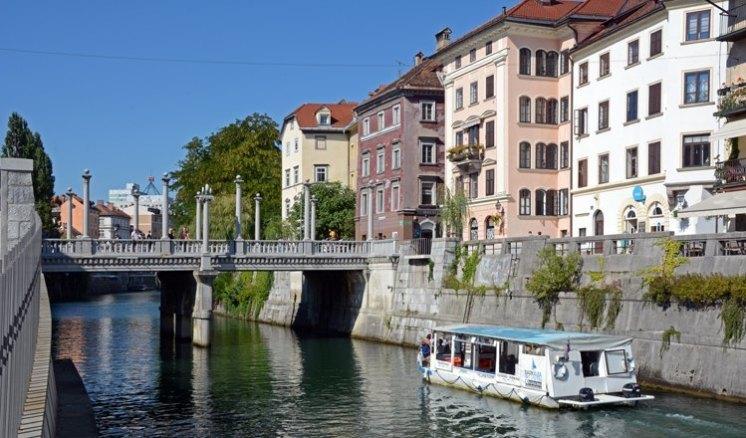 Liubliana. Río Liublianica y Puente de los Zapateros