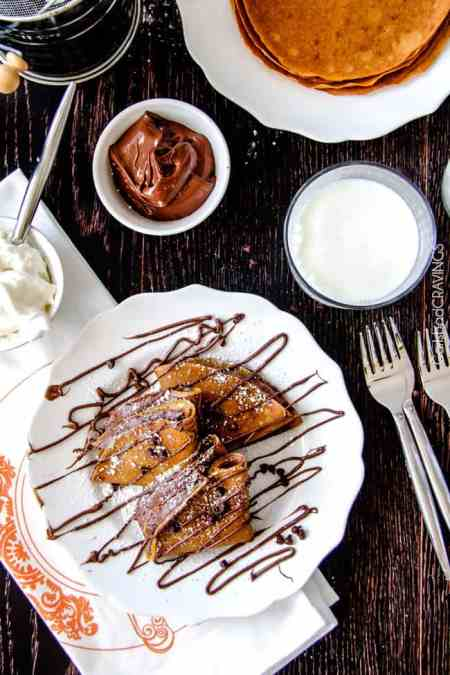 Pumpkin Nutella Crepes