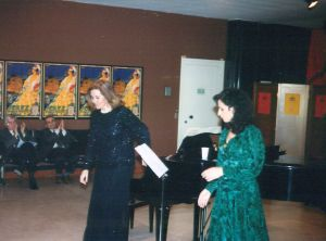 With the pianist Marisa Arderius