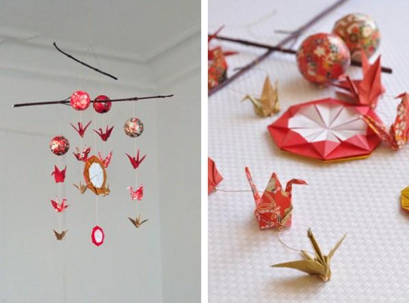 Diy de l origami en mobile pour no l carnets parisiens carnets parisiens - Origami facile a faire pour noel ...
