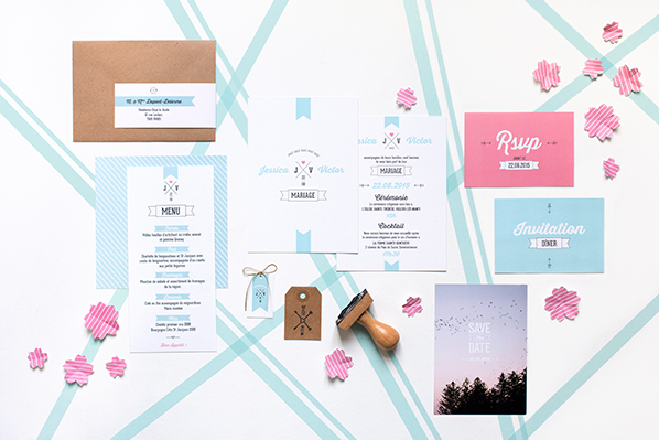 My Dear Paper - Wedding Retro Type collection - Photo by Cyrielle Mothas