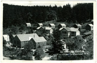 A 1951 photo of Le Conte Lodge, located in the Great Smoky Mountains National Park. A trip to Mount LeCont inspired fee critic John Quillen's love of the Smokies. Quillen's group, Southern Forest Watch, plans to file a lawsuit to stop the new backcountry user fee. Click to view full-size image.