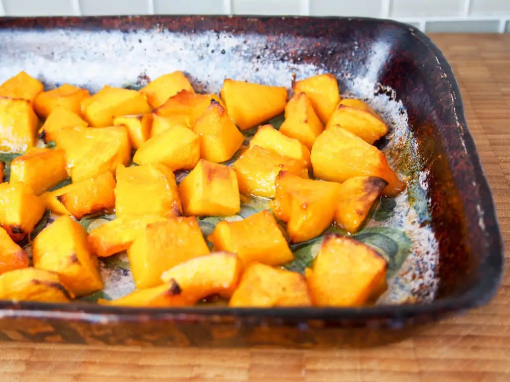 Maple-roasted buttercup squash