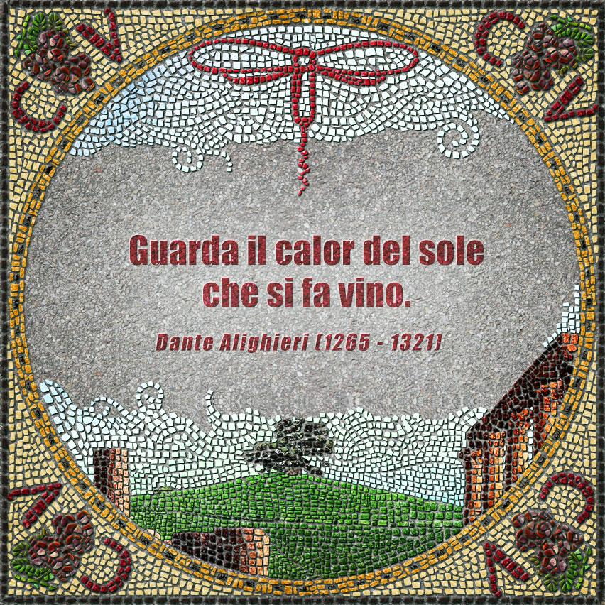 citazioni mosaico Dante